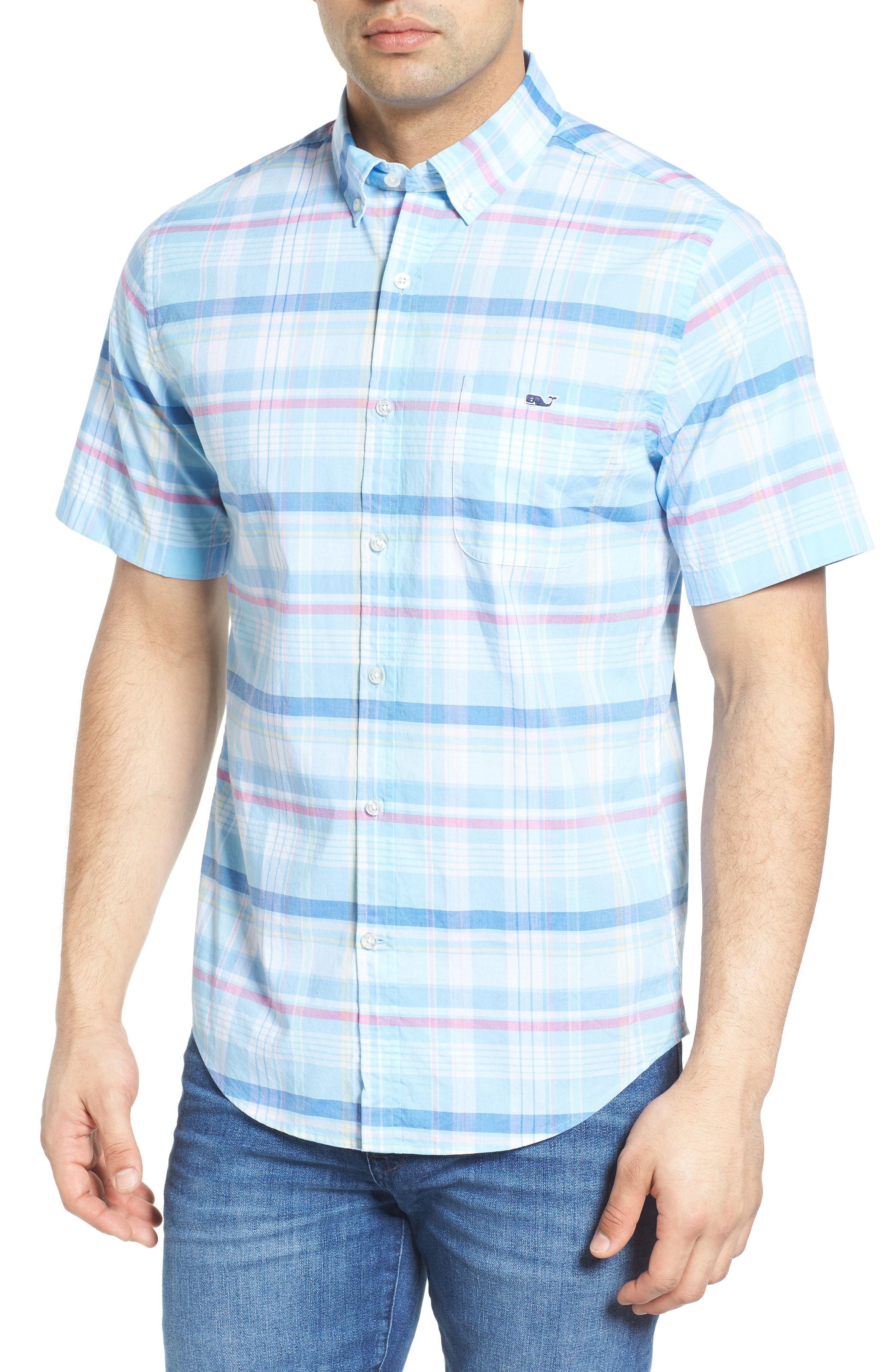 692433ed0 New Vineyard Vines Cedar Point Classic Fit Plaid Sport Shirt ,BERRY fashion  online. [