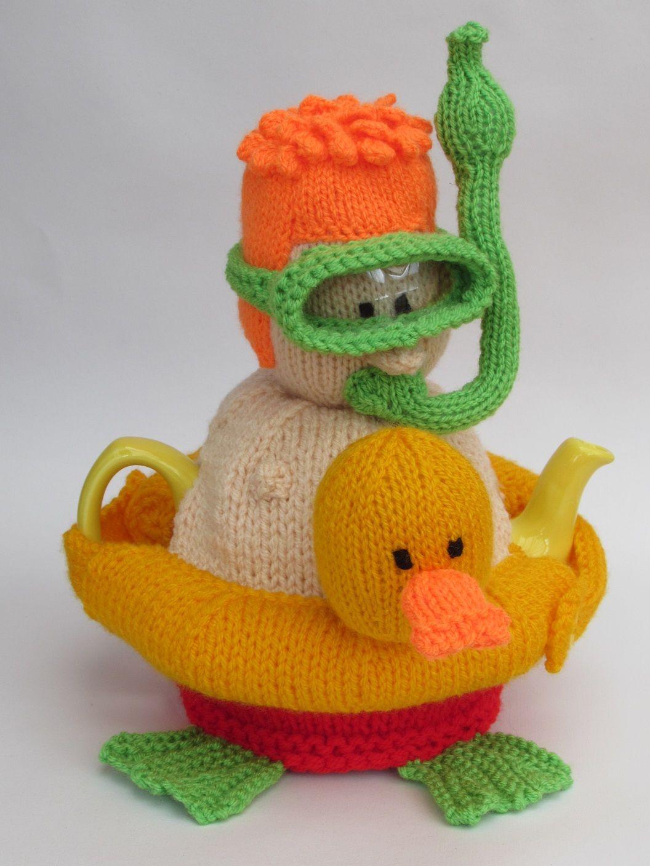 Snorkeler tea cosy knitting pattern | Bordado en hilo, Teteras y Me ...