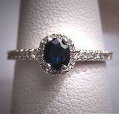 Vintage Sapphire Diamond Wedding Ring Art Deco Estate Vintage Sapphire Diamond Wedding Ring Art Deco Estate