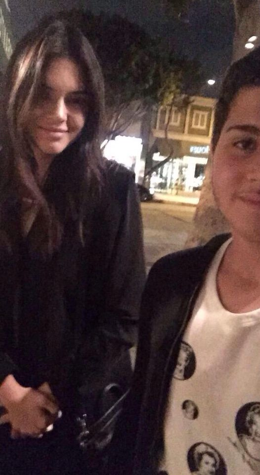 Kendall with a fan