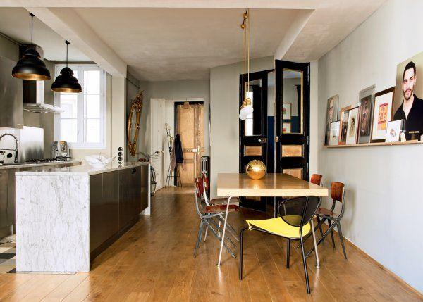 Une cuisine ouverte sur la salle à manger Marie claire maison