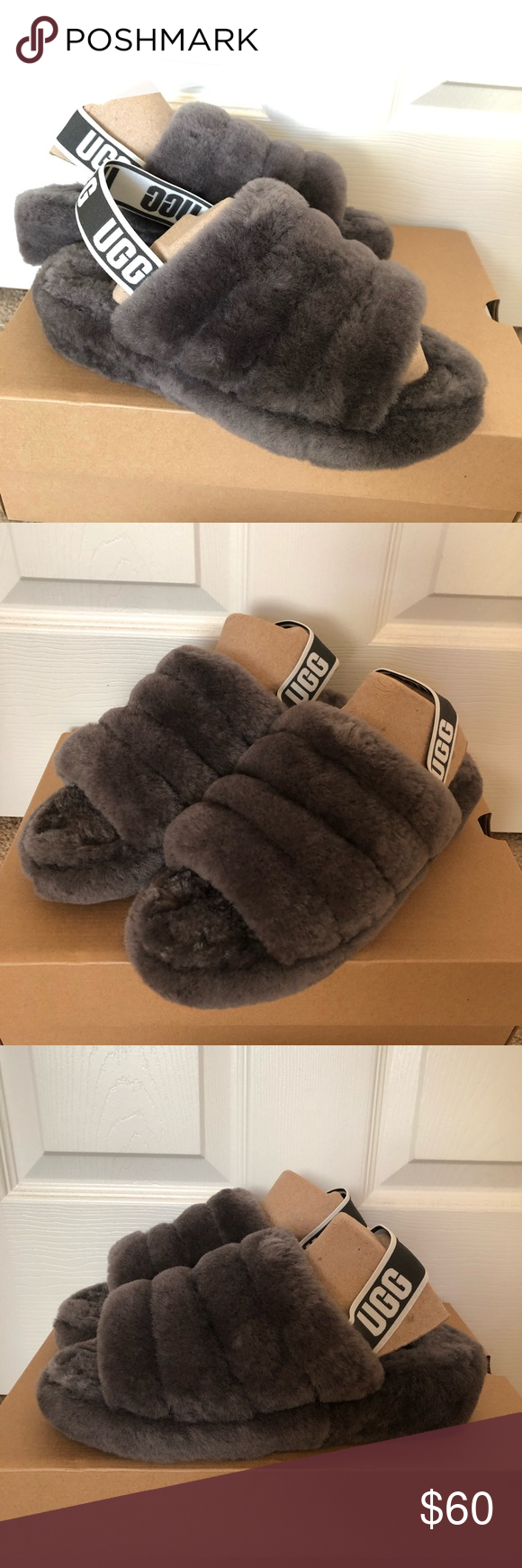 9302dddc456 UGG Fluff Yeah Slides Brand New These UGG slides are brand new in ...
