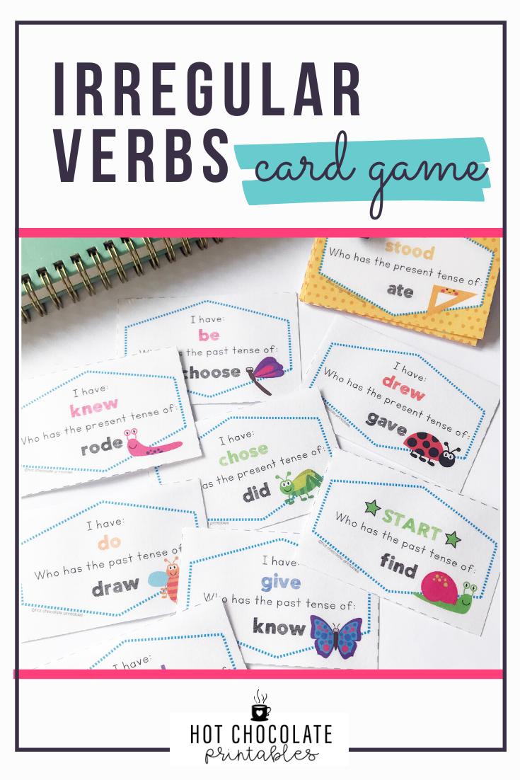 Past Tense Irregular Verbs Card Game Angliya [ 1102 x 735 Pixel ]