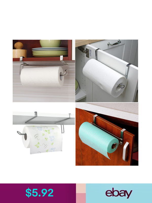 Kitchen Storage Organization Kitchen Toliet Roll Paper Towel Holder Stainless Steel Under Cabinet Door Home Eb Paper Towel Holder Cabinet Doors Kitchen Roll