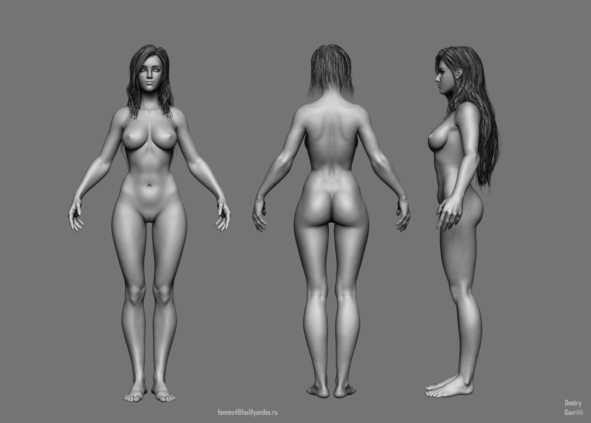 ArtStation - Female Anatomy Study, Dmitry Gavrilik | Woman Body ...