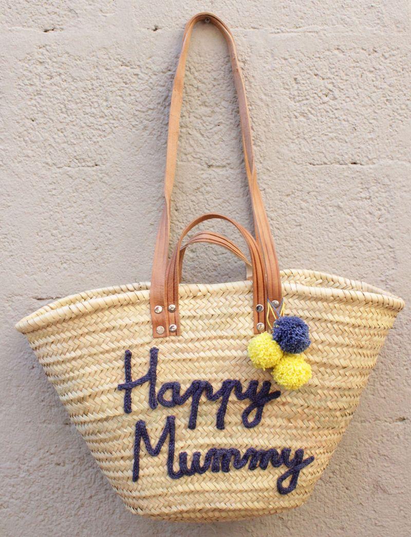 l 39 atelier des petites bauloises panier de plage happy bag pinterest. Black Bedroom Furniture Sets. Home Design Ideas