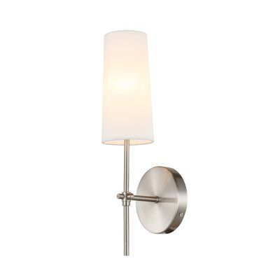 George Oliver Fredericks 1 Light Wallchiere Finish Burnished Nickel Light Dimmable Light Bulbs Sconces
