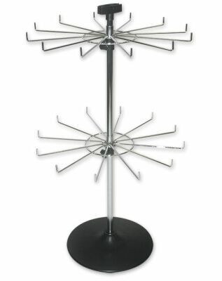 Spinner Rack With Hooks Spinning Wire Display Counter Top