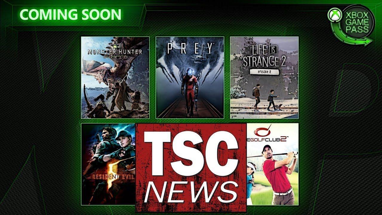 Xboxgamepass April 2019 Twd Monsterhunter World Prey Xbox Game Pass Xbox Games Monster Hunter World