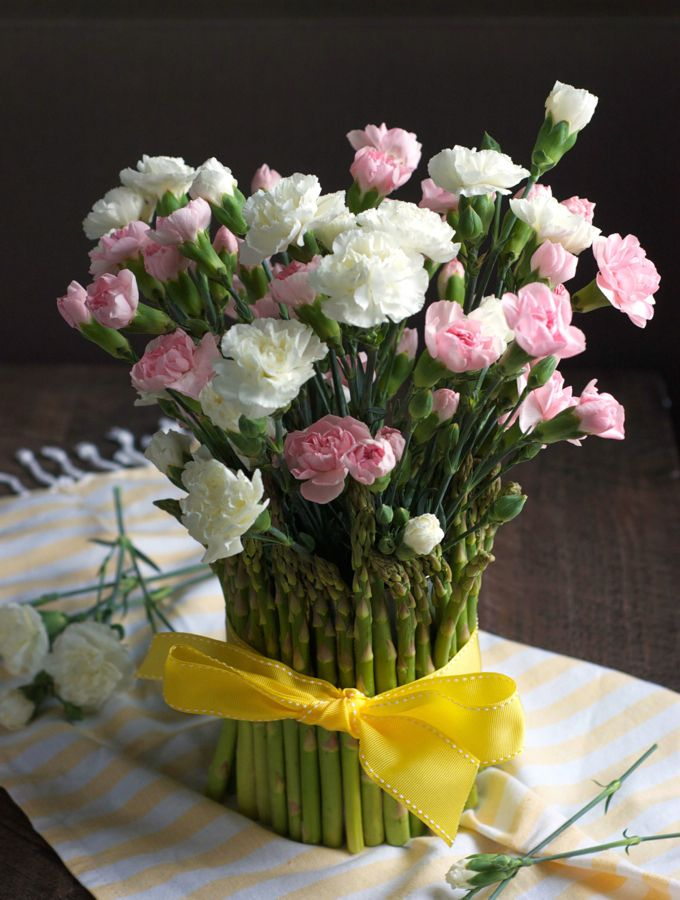 Asparagus Flower Vase Flower Vases Flowers Flower Vase Making