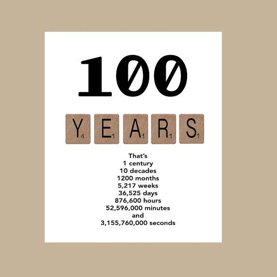 The 100th Decade Birthday Card Is Sure To Make Recepient Smile Printed On 100lb White Matte Stock Measures 5 X 7 And Individually