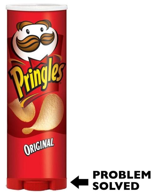 Cant get pringles out of the can?