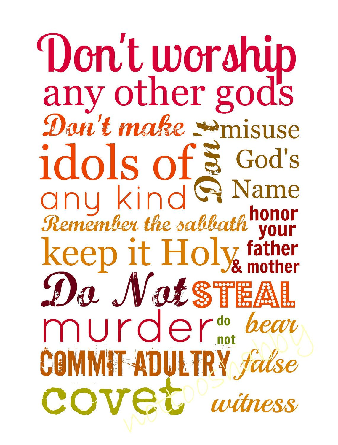 10 Commandments Printable Page Printables 1