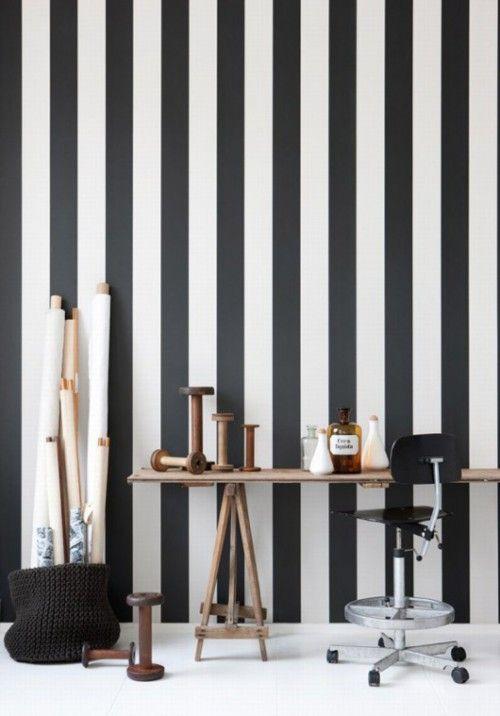 Streifen an die Wand malen Ideen | Dekor, Tapete ...