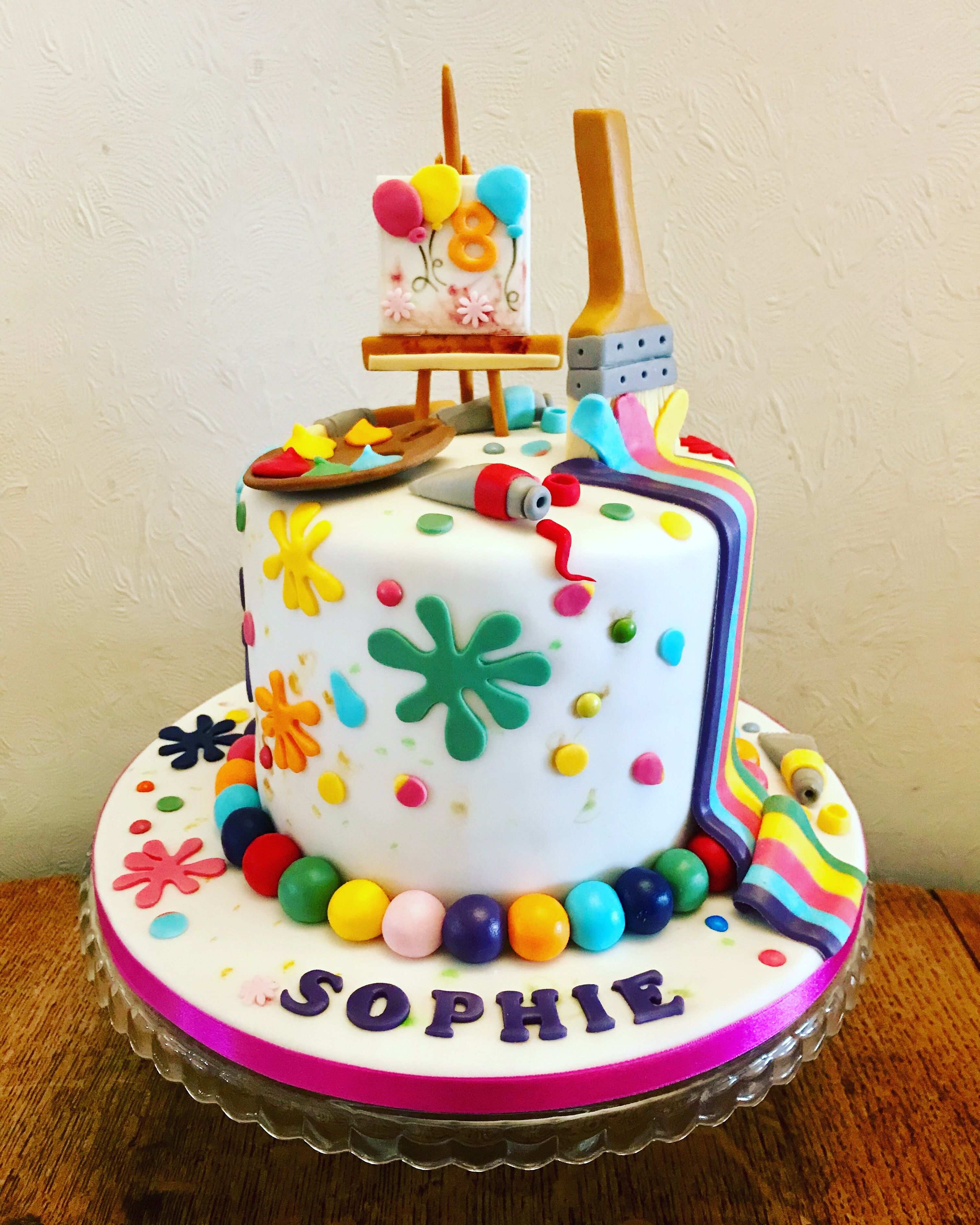 Art Themed Cake With Images Themed Birthday Cakes Birthday