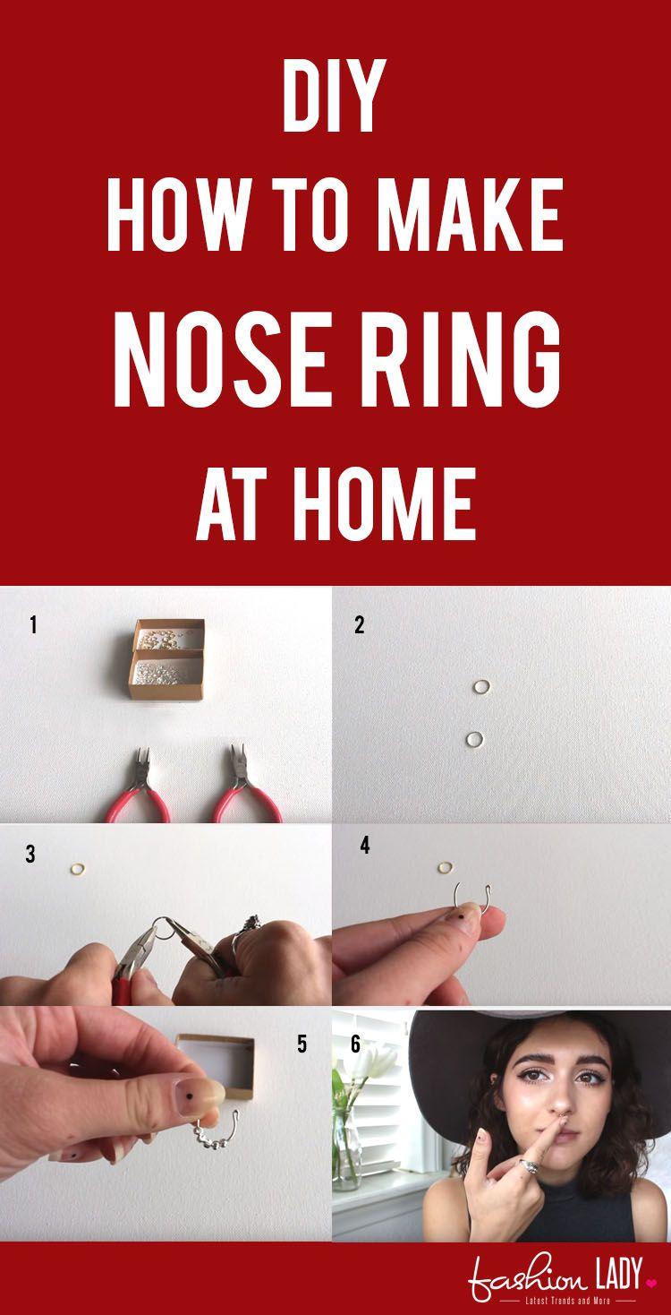 Diy How To Make Nose Ring At Home Diy Nose Rings Diy Jewlery Making Diy Rings