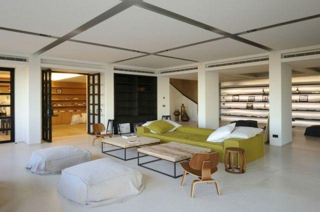 Design Regalsystem moderne Möbel aufgehängte Decke Wohnideen