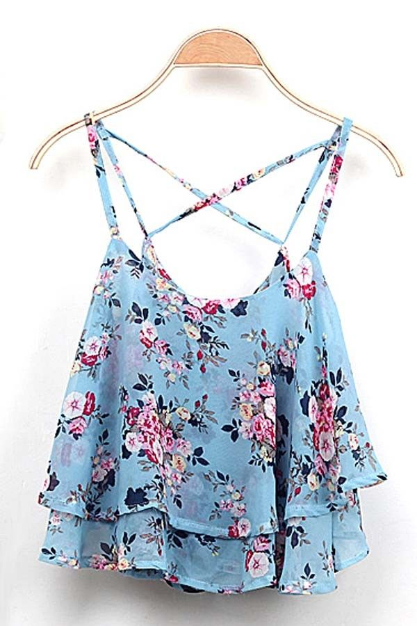 floral tank top - Google Search · Fancy TopsModern PrincessBlue ...