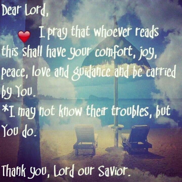 I pray.