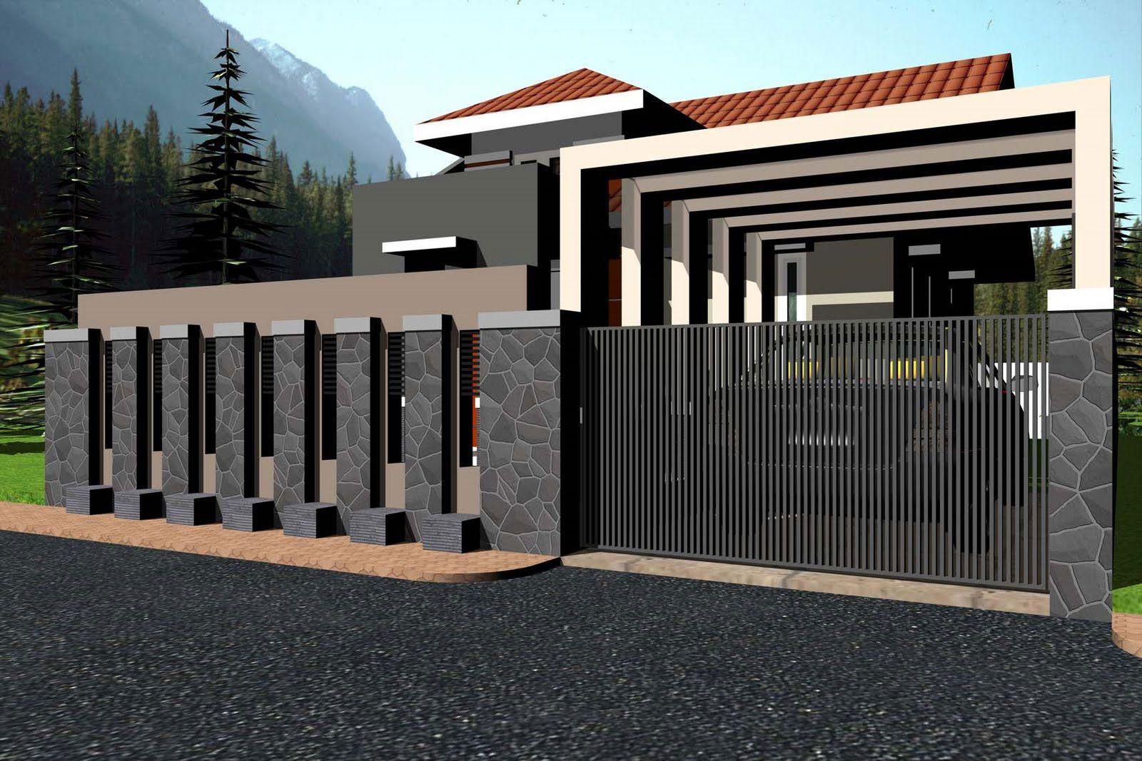 Desain Pagar Rumah Minimalis Fasade Fence Pinterest Gates
