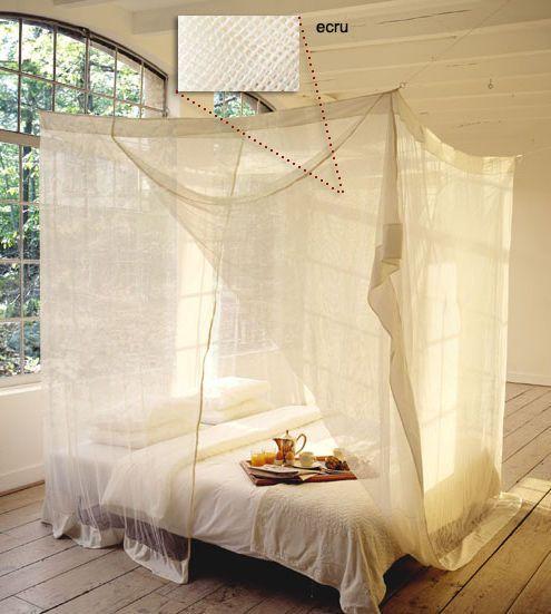 Moskitonetze betthimmel moskitonetz baldachine canopy netze 200x220cm natur ben mattis - Moskitonetz kinderzimmer ...