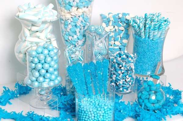 Blue Baby Shower Party Ideas Photo 7 Of 10 Baby Shower Candy Baby Shower Candy Table Baby Shower Candy Bar