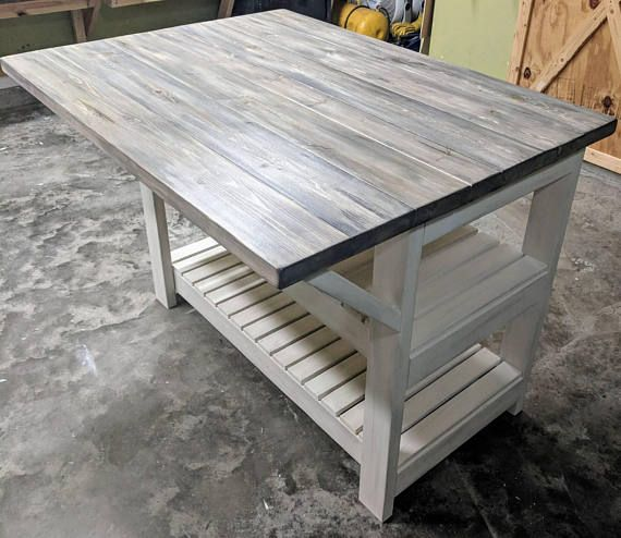 Rustic Kitchen Island in 2018 diy around the house Rustic