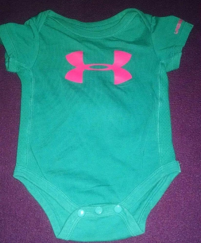 Under Armour Turquoise Onesie Baby GIrls SIze 36 Months