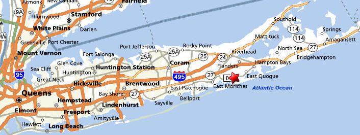 hampton beach ny map rogers ave in west hampton beach ny