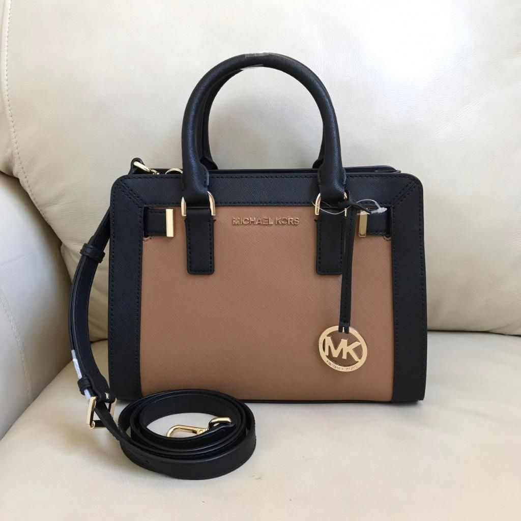 Nwt Michael Kors Small Dillon Acorn Black Leather Top Zip Tote Bag Satchel Authentic Purse 1490 Http