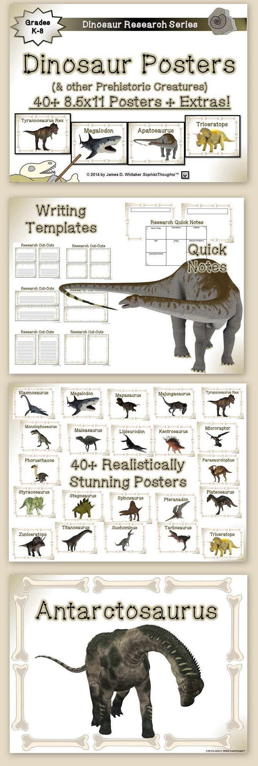 Provided Is Over 40 Posters Prominently And Realistically Displaying Dinosaurs And Other Prehistoric Creatures Dinosaur Posters Prehistoric Creatures Dinosaur [ 2604 x 877 Pixel ]