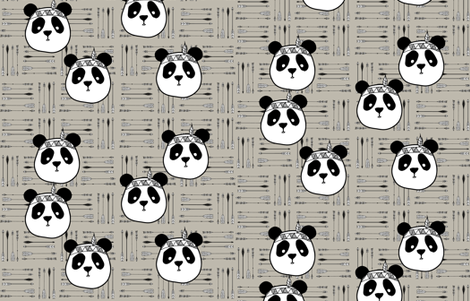 panda-arrow fabric by the_magic_elephant on Spoonflower - custom fabric
