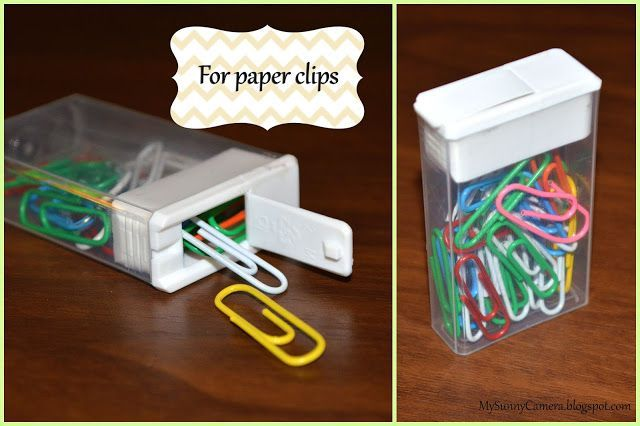 5 usos para contenedores de Tic Tac - de clips - https://www.facebook.com/different.solutions.page