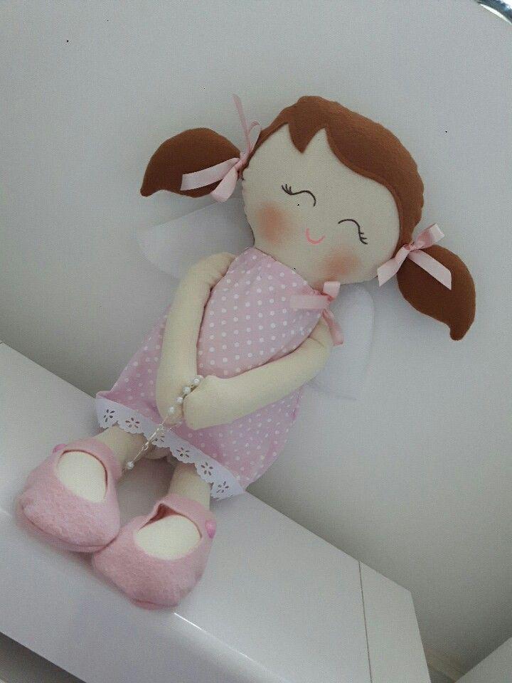 Boneca anjinho em algodão
