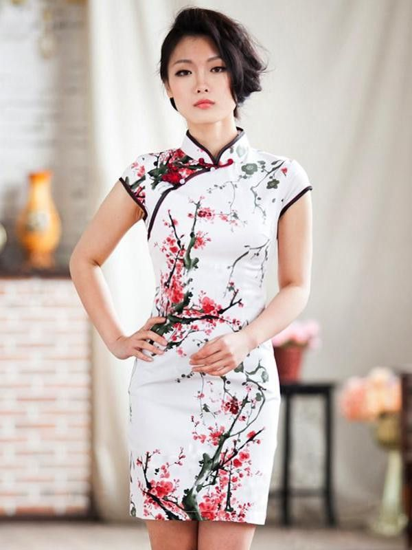 plum blossoms mandarin dress i 39 m sexy i know it pinterest robe chinoise robe et haute. Black Bedroom Furniture Sets. Home Design Ideas