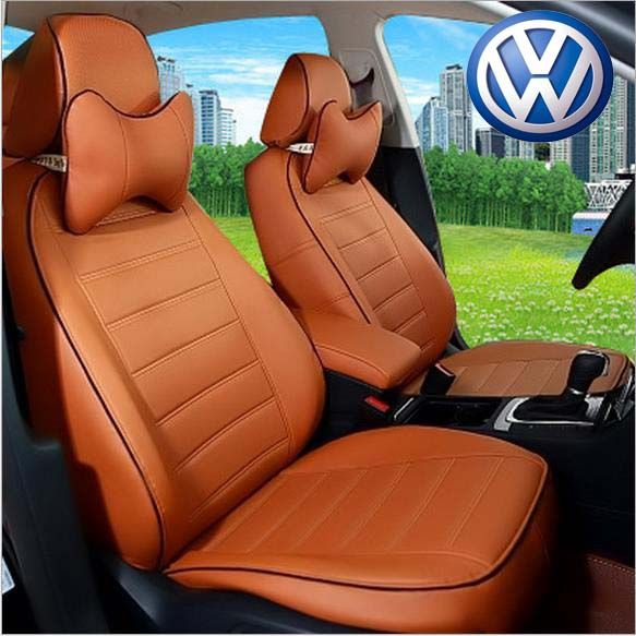 Special Customized Car Seat Covers PU Leather Seats Cover Four Seasons General For VOLKSWAGEN AMAROK