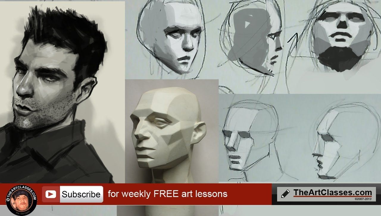 How To Draw Face Shading And Planes Part 3 Of 3 Portrait Drawing Male Face Drawing How To Shade