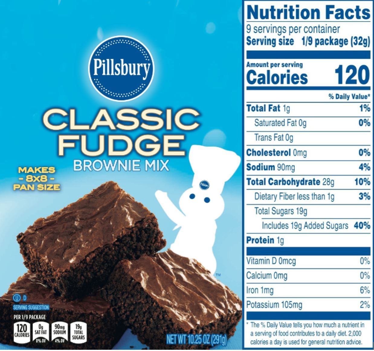 The Updated Nutrition Facts Label As Seen On Pillsbury Classic