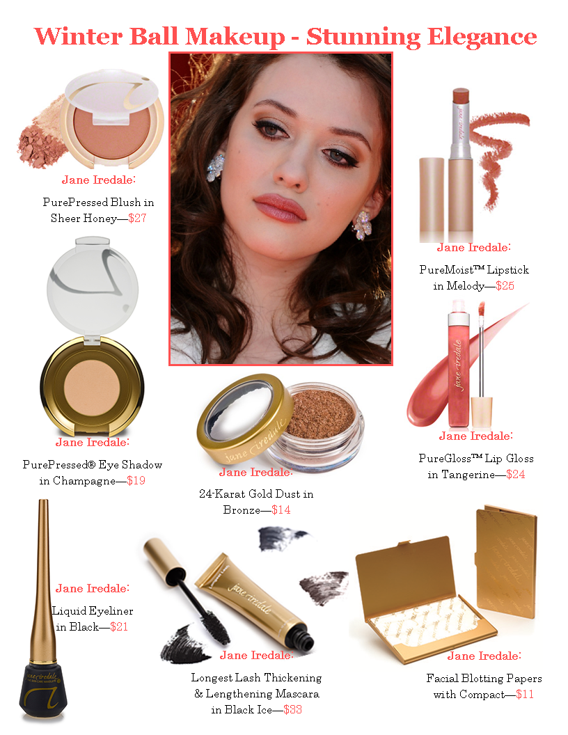 Day 21 Winter Ball Jane Iredale Palladio Beauty Makeup Looks Product