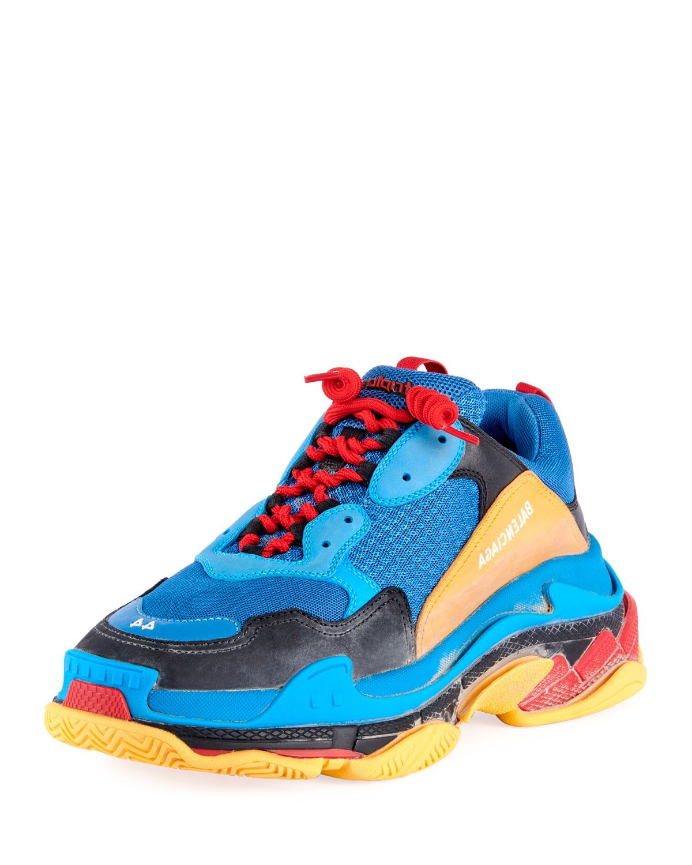 e2dad7964e8 Balenciaga Men s Triple S Mesh   Leather Sneakers