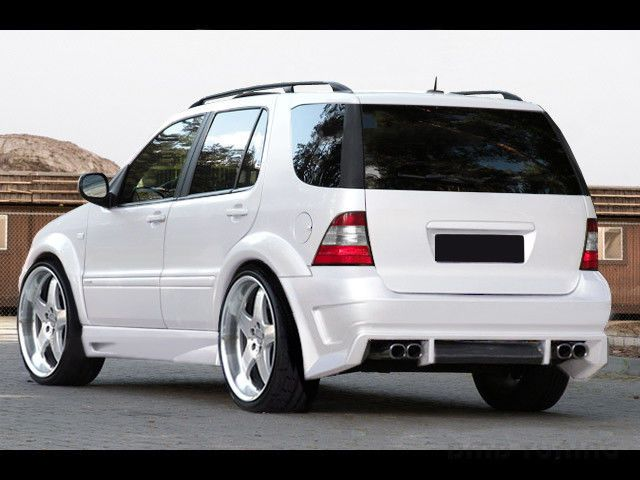 mercedes ml w163 komplettvers spoiler set body kit tuning. Black Bedroom Furniture Sets. Home Design Ideas