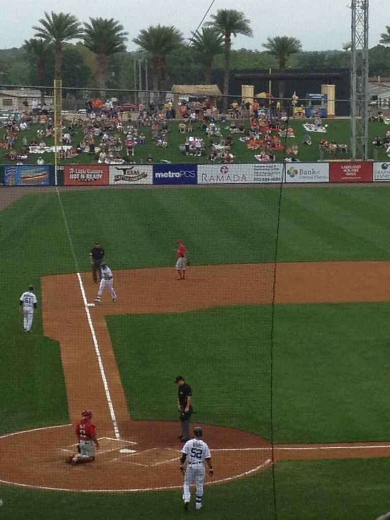VMart circles the bases after his first home run in a tigers uniform since 2011! 2/24/13