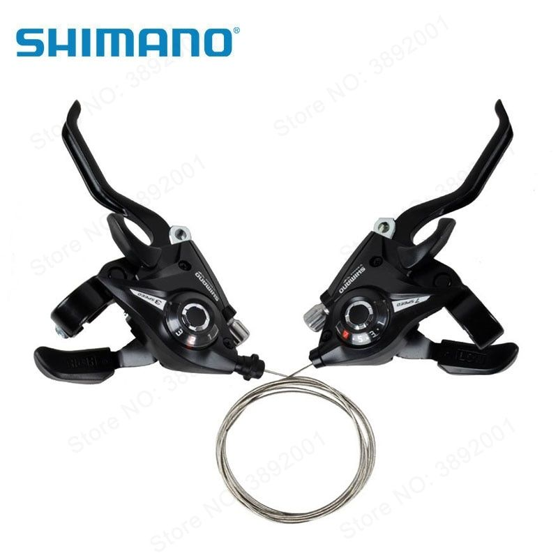 ST-EF51 3x7 Speed Shifter Brake Lever Combo Set w//Shifter Cable for Shimano