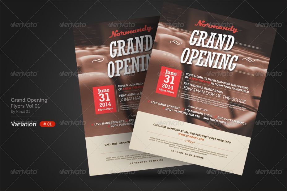 Grand Opening Flyer Template Psd For Shop Church And Event