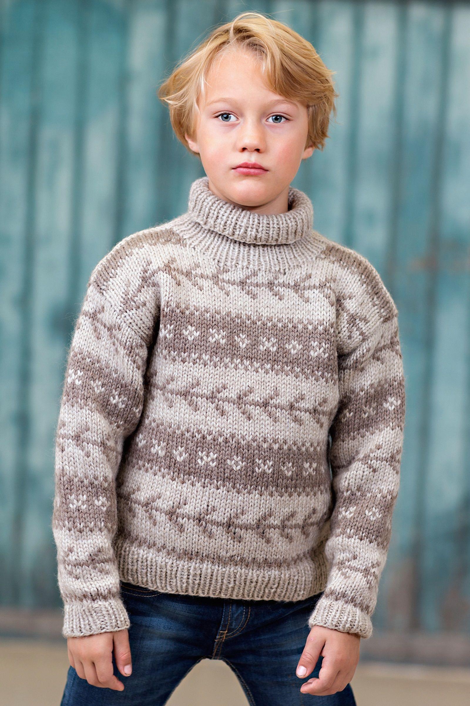 boys kids alpaca faroese turtleneck sweater, photo from ...