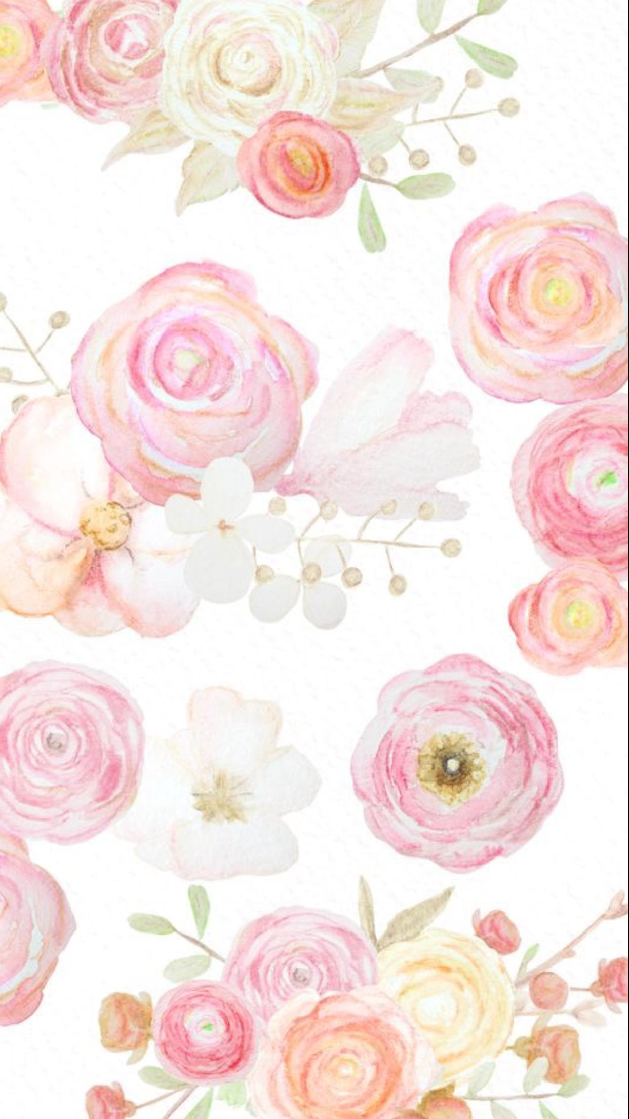 Iphone 6 Floral Watercolor Flowery Wallpaper Watercolor Floral Wallpaper