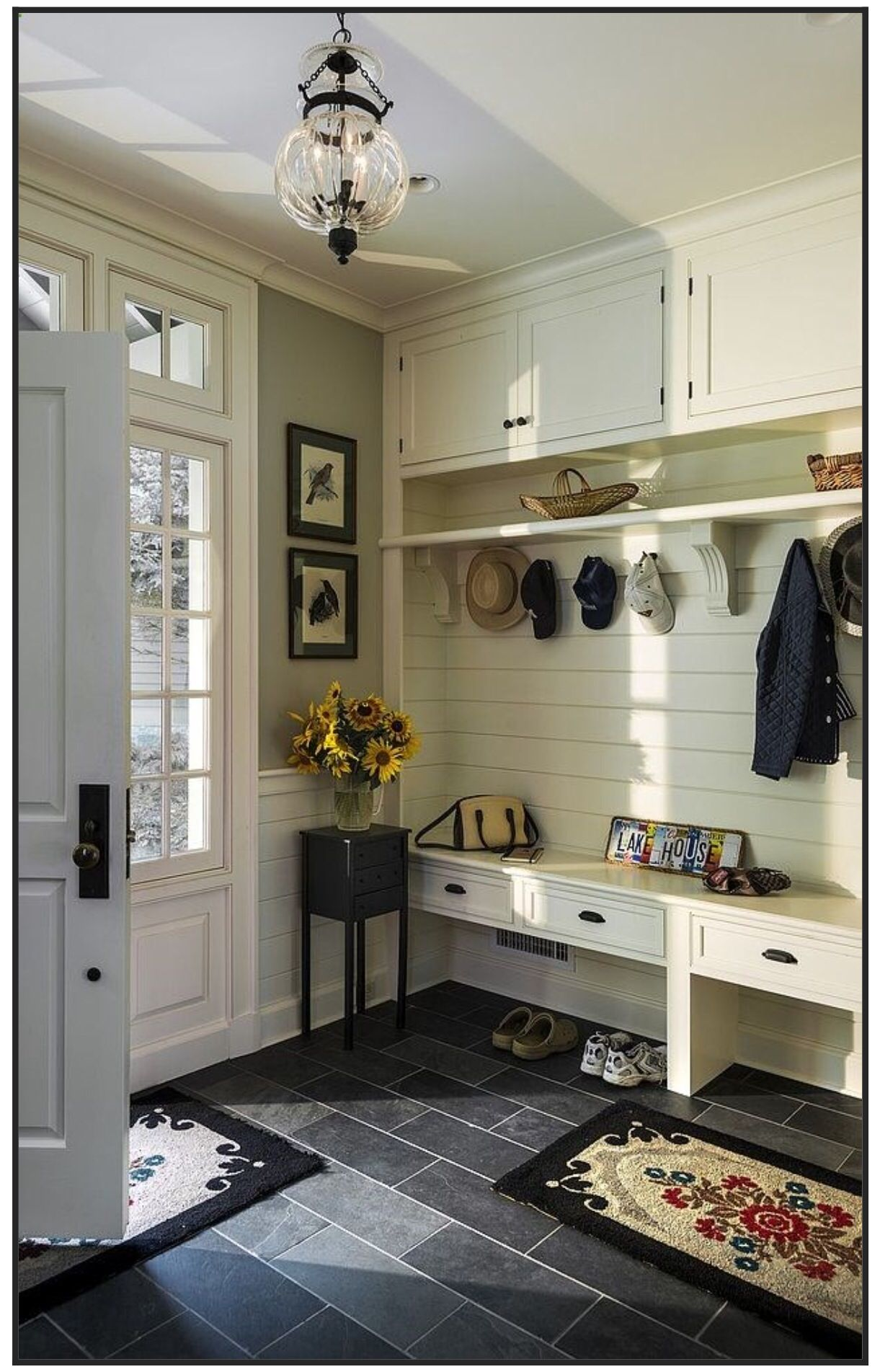 Lake House By Crisp Architects Mudroom Entry   Mud Room   Like The Narrow  Bench To Allow Room For Wall Space By The Door To Include The Small Console  Table ...