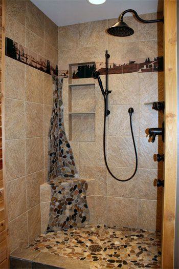 40 Spectacular Stone Bathroom Design Ideas: Photo_Ceccarelli_Shower.jpg (350×525)