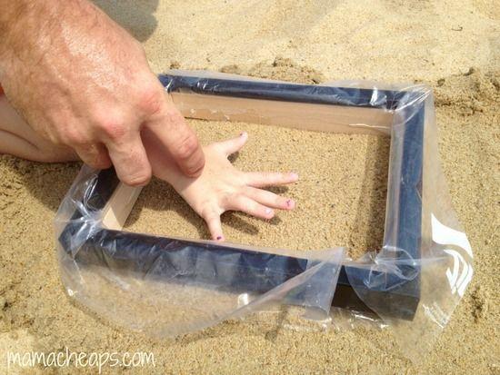 Diy Beach Sand Hand And Footprint Keepsakes Beach