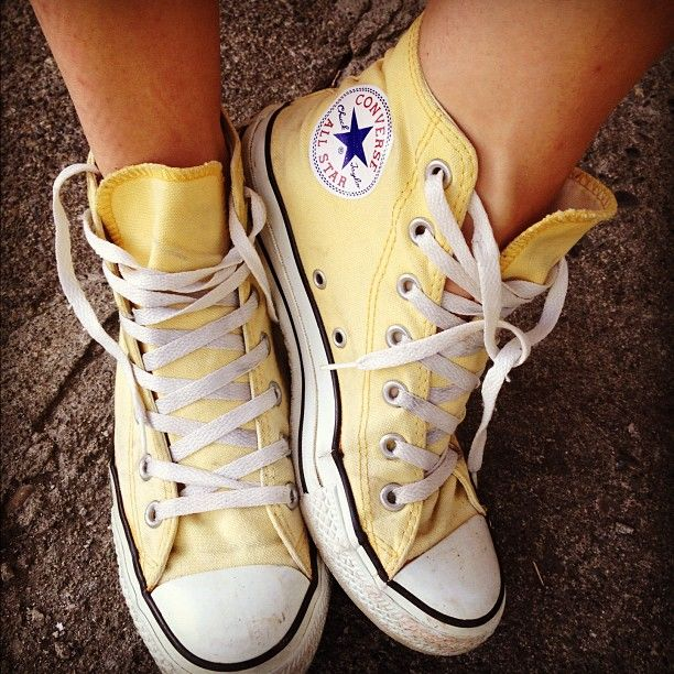 e3010208062c Yellow Converse high tops. I love these so much!